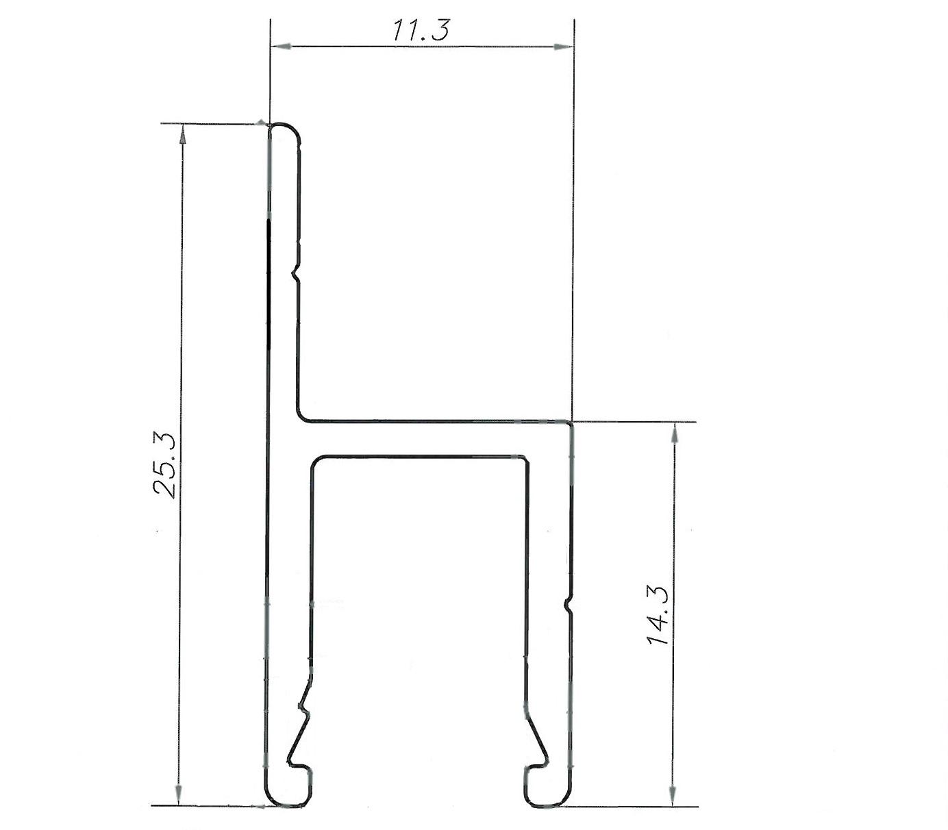 Схема - Алюминиевая рамка клапана