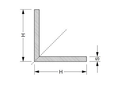 Уголок алюминиевый, купить г-профиль угловой по цене от 14 руб. за 1 кв.м.  в AL STORE / ТАТПРОФ